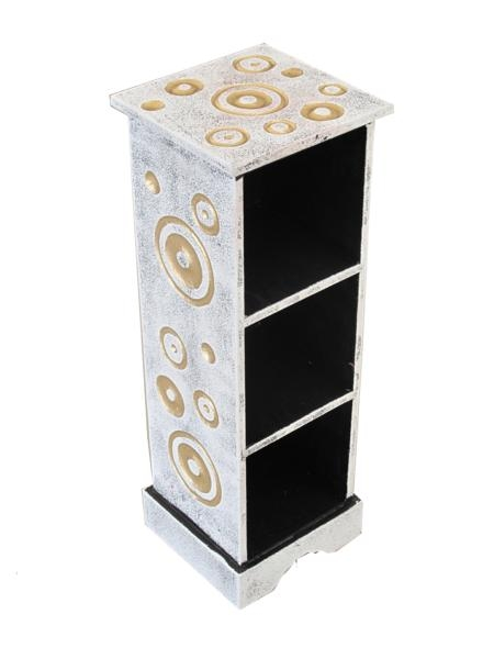 Mobiletto porta cd in legno decorato design - 50cm - MOBILETTI E ...