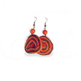 Orecchini in corda spirale colorata Candy.