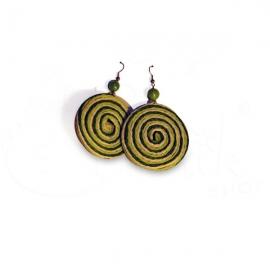Orecchini in corda spirale bicolore - Vari colori.