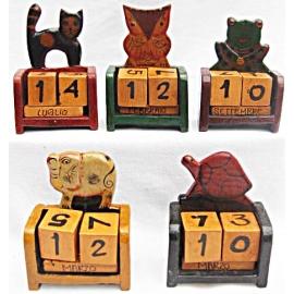 Calendario perpetuo mini in legno - Vari modelli