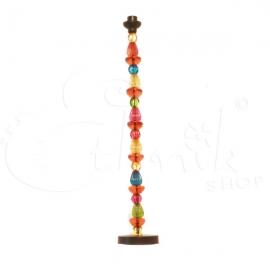 Porta candele a candelabro in vetro colorato - Grande