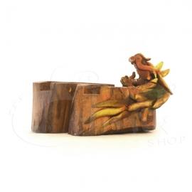 Posacenere  in legno con drago scolpito