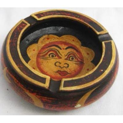 Posacenere in legno dipinto Sole - Vari colori
