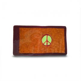 Portafoglio in cotone con simbolo della pace.