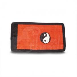 Portafoglio in cotone con Tao