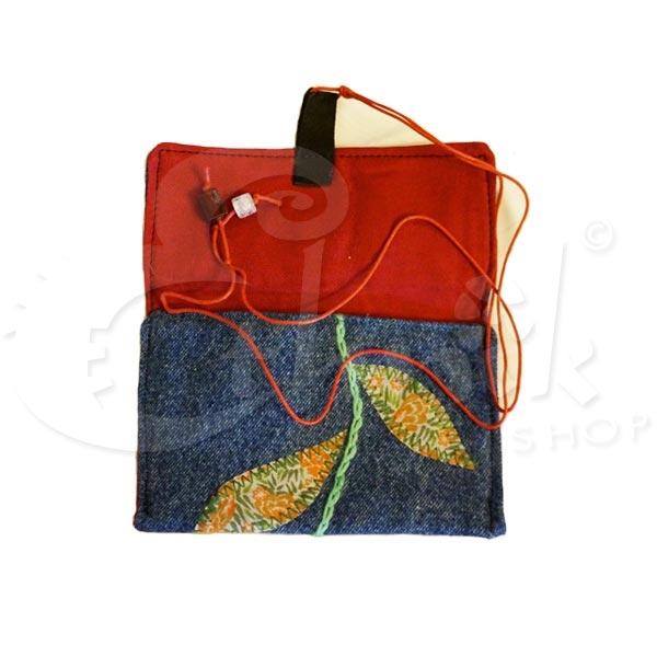 Porta Tabacco Bustina Trousse Pochette Fatta A Mano Jeans