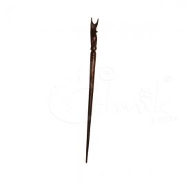 Ferma capelli  in legno - gufetto