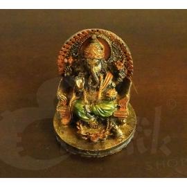Statuetta Orientale Ganesh sul trono
